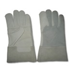 Leather Work Gloves, Palm Double in Crust Cowhide Leather, Back and cuff in Crust Split Leather, Thickness: 1.1 – 1.3mm