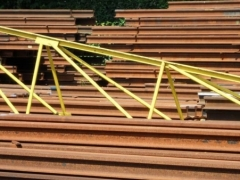 Steel scrap used rails